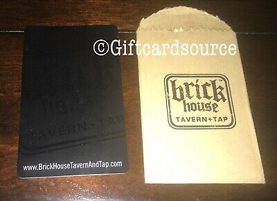 BRICK HOUSE TAVERN & TAP GIFT CARD WITH SLEEVE NEW YORK NO VALUE COLLECTIBLE