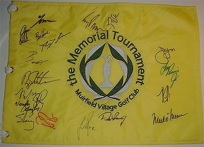 Wholesale Lots Golf-pga Knowledgeable 2019 Us Open Autograph Signed Field Flag Dustin Johnson Spieth Beckett Bas Coa