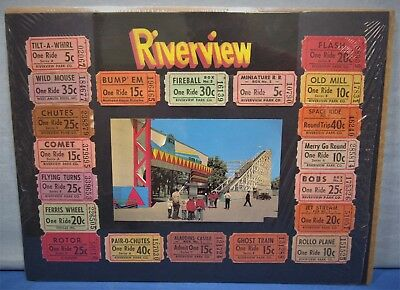 Riverview Amusement Park 1950S   Silver Flash Roller Coaster   20 Tickets