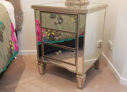 Antique Mirror Bedside Furniture