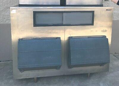 Used Follett Upright Ice Bin Storage Double Door Restaurant Equipment.