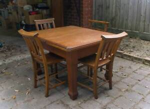 Hardwood Timber Table and 4 x Chairs