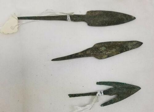 Antique Antiquity Greco-Roman Greek Roman Projectile Points Arrowheads Bronze