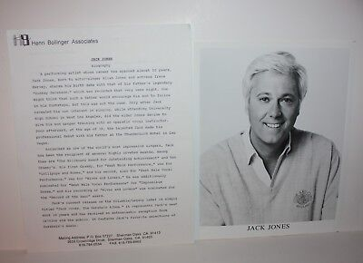 JACK JONES Actor Talent Agent Issued Photos and Bio 1990's