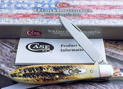 Case Tony Bose Design Bone Stag Teardrop Jack Knife 2015 Issue AAA+ Mint! NR
