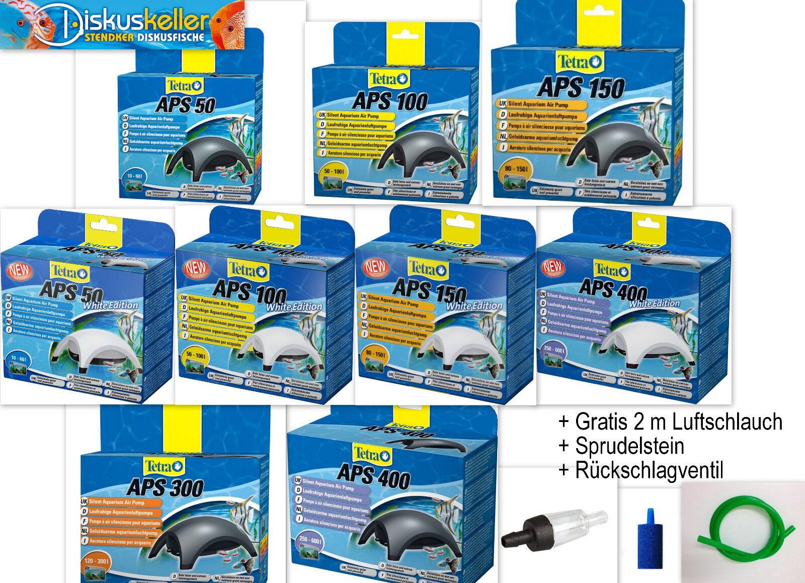 Tetra APS 50 bis 400 Aquarienluftpumpe sehr leise Luftpumpe für 10-600L Aquarium
