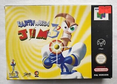 Earthworm Jim 3D Nintendo 64 N64 PAL Boxed Game With Manual and Box Protector