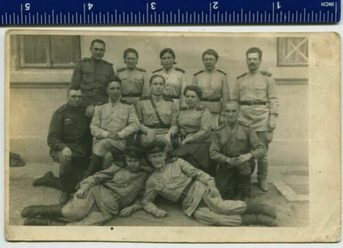 WWII Photo USSR Red Army soldiers infantrymen,women,girl,uniform