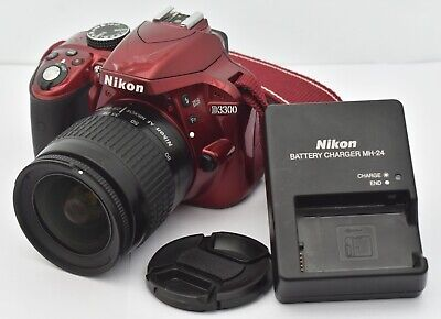 Nikon D D3300 24.2MP Digital SLR Camera - Red (w/ Nikon AF 28-80mm lens)