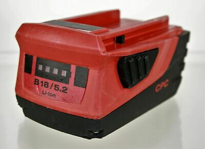 Hilti Cpc B18 5.2ah Li-ion 21.6v Cordless Rechargeable Genuine Battery Pack