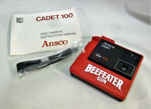 1983 Ansco Cadet 100 Disc Camera Beefeater Gin Advertising MIB