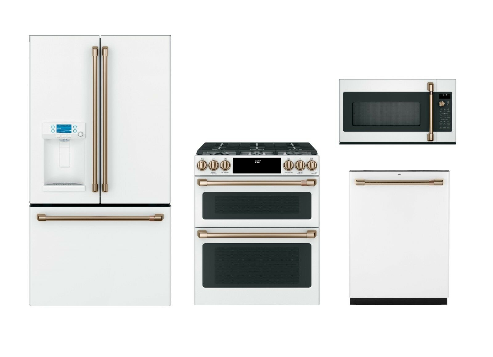 GE Café Matte White Kitchen Package with $500 Mail in Rebat