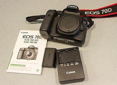 Canon EOS 70D 20.2MP Digital SLR Camera - Black (Body Only) -