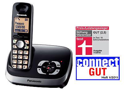 Panasonic KX-TG6521GB schwarz DECT Telefon mit Anrufbeantworter BRANDNEU ()