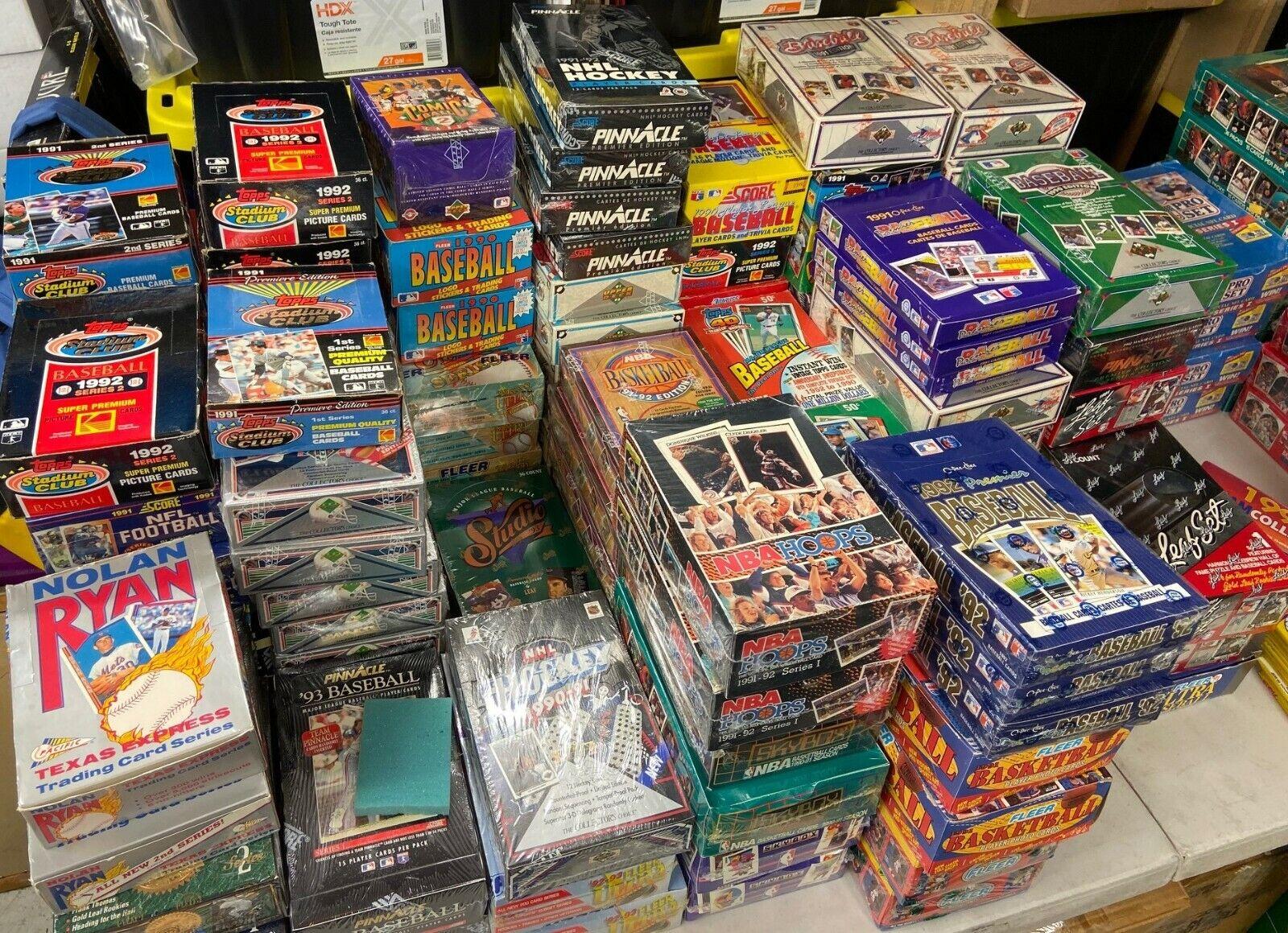 BEST PACK DEAL Huge Lot of VINTAGE Baseball Cards in UNOPENED Packs