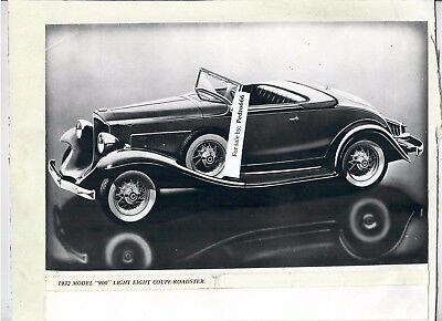 Lot of 2 Mounted photograph of vintage Packard Car from an Exhibition Both 1932