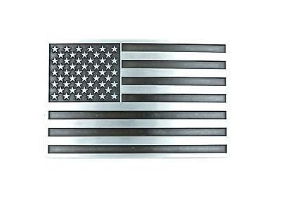 Patriotic American USA Flag Silver Vintage Finish Metal Belt (Flag Metal Belt Buckle)