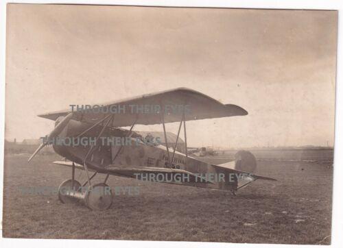 Original WW1 photo Captured German Fokker at Ronchin France Nov 1918