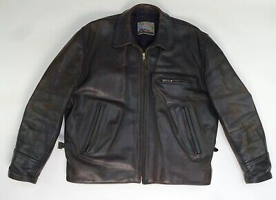 Aero Leather Brown Horsehide Men's Jacket Genuine - Rare
