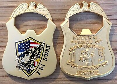 FBI - Federal Bureau of Investigation SWAT Team BOTTLE OPENER challenge coin