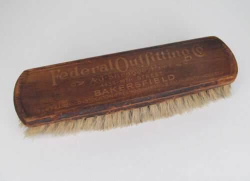 Federal Outfitting Co., Bakersfield, CA - Antique Advertising Clothes/Shoe Brush