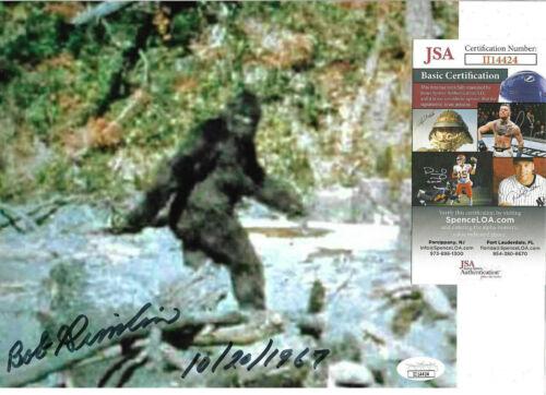 Bob Gimlin Authentic Signed 8x10 Photo Auto, Bigfoot Footage, Robert, JSA COA