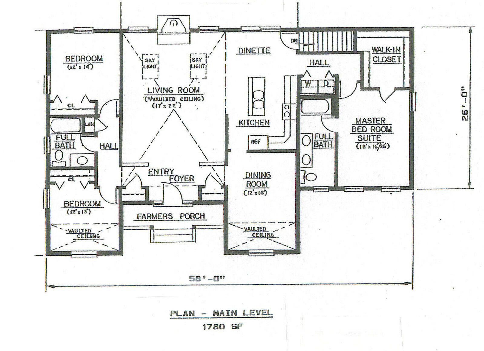 3 bdrm 2 bath 1780 sf hip roof ranch 2 car garage under for Floor plans garage under house