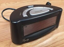 Equity (30007) Easy Set Small Black Alarm Clock w/ Snooze & Battery Backup *READ
