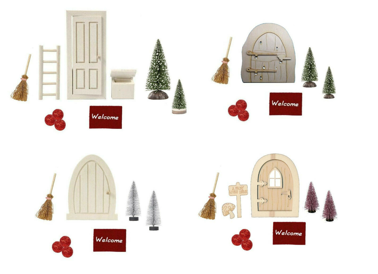 Wichtel-Zubehör Wichteltür Miniatur Möbel für Minigarten Wichtel Elfen