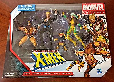 """Marvel Universe 3.75"""" Uncanny X-Men Figure Box Set Pack Rogue Wolverine Longshot"""