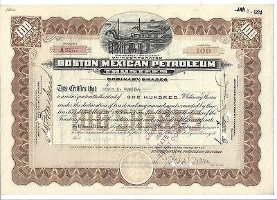 Boston Mexican Petroleum        1920 Ordinary Shares Certificate