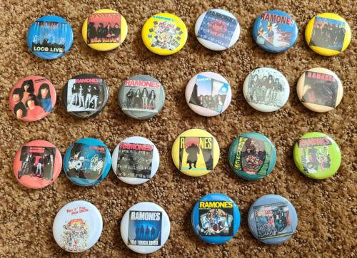 Ramones  Albums Pins Lot - Rare large set