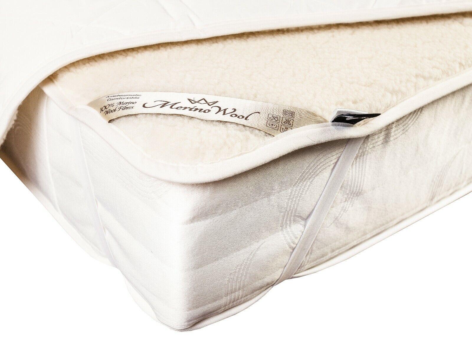 Bedding Pura Lana Merino Perugiano Naturale Coprimaterasso Letto Cover Imbottitura Mattress Pads Feather Beds
