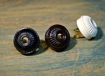 Vintage Style Electrical Plug Ribbed Design, Bakelite Replica antique fan rewire](Vintage Style Fan)