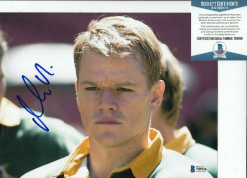 MATT DAMON signed (INVICTUS) Francois Movie 8X10 photo BECKETT BAS T89938