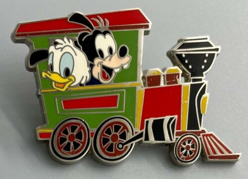 DONALD DUCK GOOFY in Railroad Disney Baby Characters in Vehicles Pin #100499