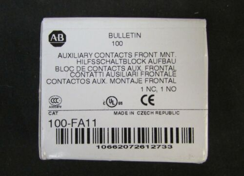 ALLEN BRADLEY 100 FA11 Front Mount 1 NC 1 NO Auxiliary Contact