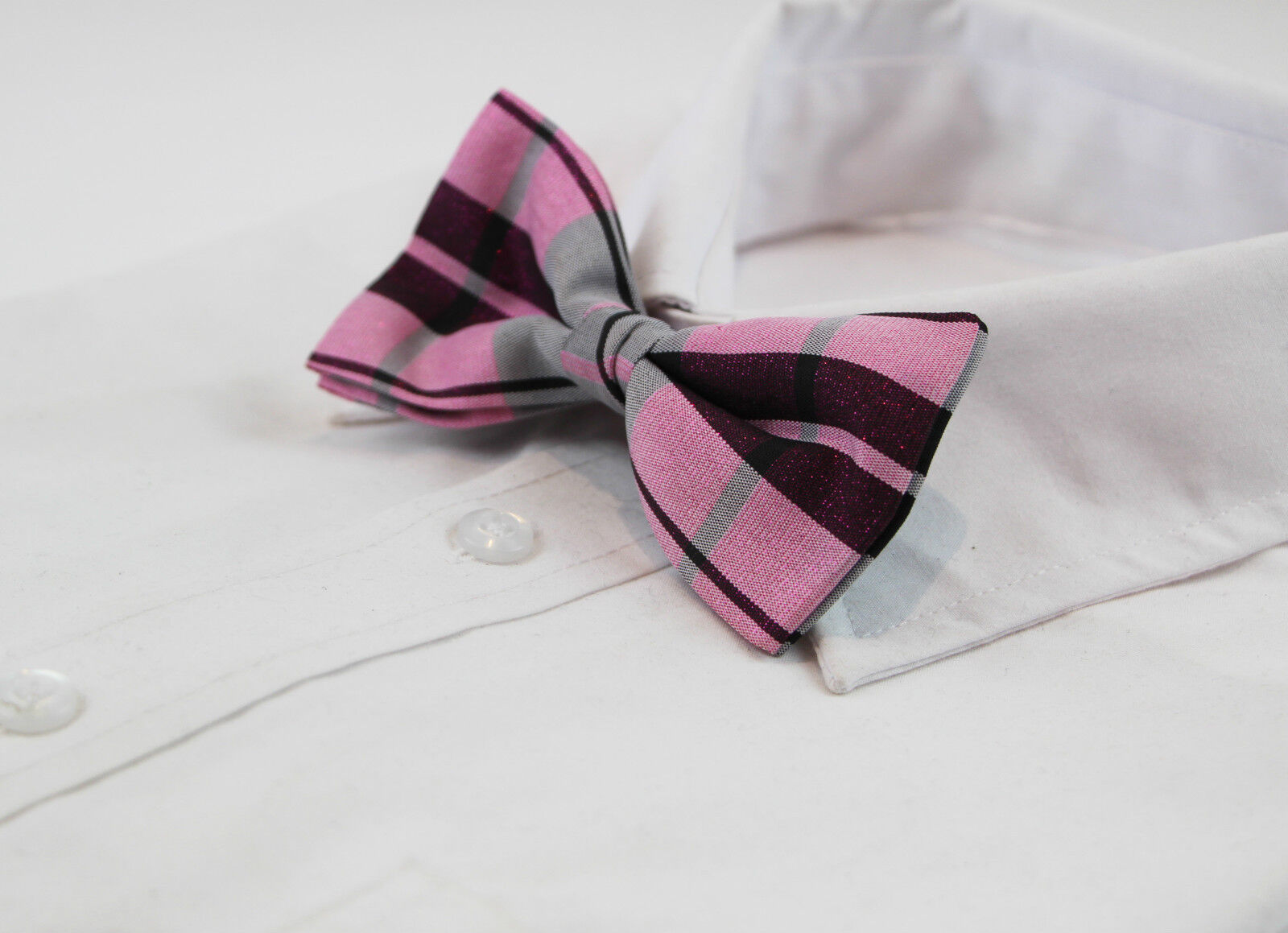 MENS VELVET MAGENTA BOW TIE Pretied Adjustable Wedding Formal Pink Purple Suede