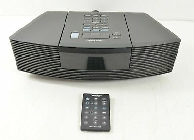 Bose Wave Radio CD Disc Player Stereo Alarm Clock With Remote Black AWR-C1G