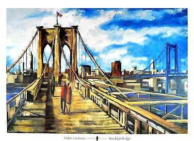 Didier Lourenco Brooklyn Bridge Poster Kunstdruck Bild 70x100cm - Germanposters