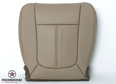 2013 Ford F250 F350 Lariat SuperCab -Driver Side Bottom Leather Seat Cover TAN