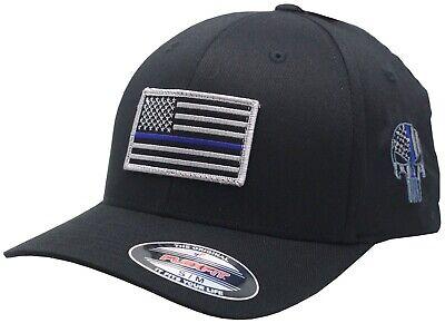 Blue Line Flag Punisher Flex Fit Hat
