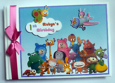 PERSONALISED BABY TV CHARACTERS BIRTHDAY GUEST BOOK / - Baby Tv Characters