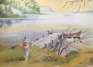 Jacques Hebert, tableau toile peinture aquarelle