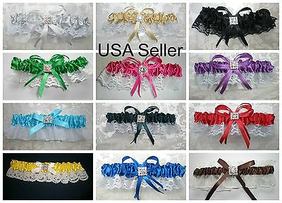 Wedding Anniversary Colors (PICK FROM 12 COLOR CHOICES Satin Toss Garter Wedding, Prom, Anniversary )