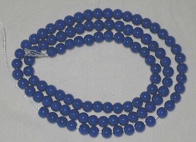 100 perles rondes en porcelaine - 4 mm - bleues - Loisirs créatifs Customisation