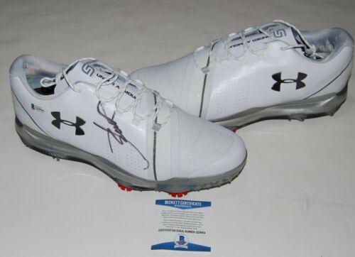 JORDAN SPIETH signed (UNDER ARMOUR) Spieth model golf shoes cleats BECKETT