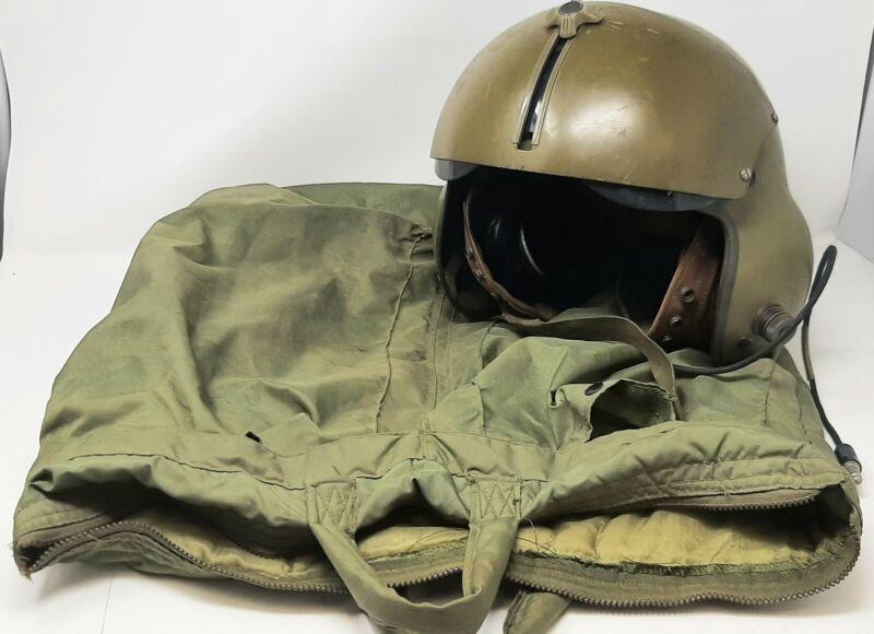 VTG Vietnam War Era Gentex Extra Large Helicopter Flight Helmet and Storage Bag