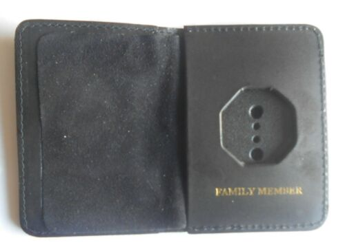 NY State Police Mini Shield Bi Fold Wallet Only Family Member ID Pocket