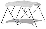 EASY USE 3 BOW SUN CANOPY BIMINI TOP FOR BOAT, DINGHY, JON BOAT WITH FREE BOOT
